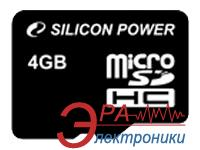 Карта памяти Silicon Power 4Gb microSD Class 4 no adapter (SP004GBSTH004V10)