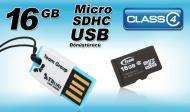 Карта памяти Team 16Gb microSD Class 4 + Reader TR11A1
