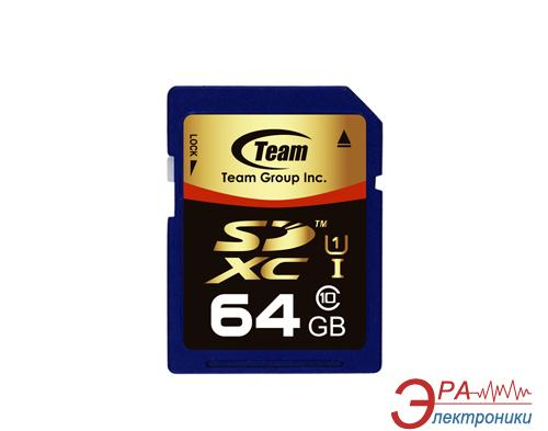 Карта памяти Team 64Gb SD Class 10 UHS-1 (TG064G0SD3FX)