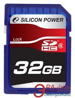 Карта памяти Silicon Power 32Gb SD Class 6 (SP032GBSDH006V10)