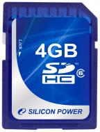 Карта памяти Silicon Power 4Gb SD Class 6 (SP004GBSDH006V10)