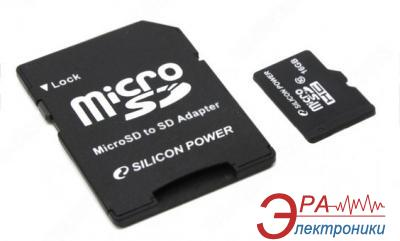 Карта памяти Silicon Power 16Gb microSD Class 10 + adapter (SP016GBSTH010V10-SP)