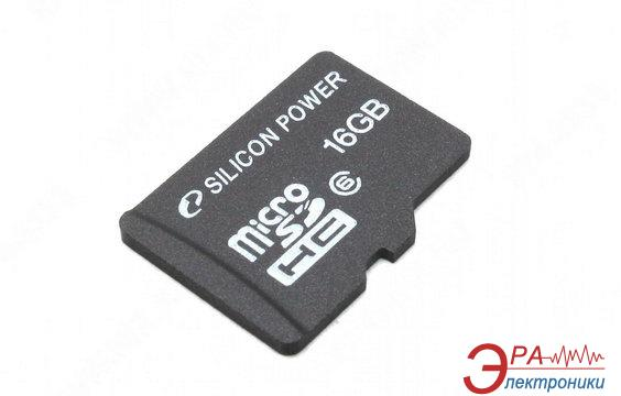 Карта памяти Silicon Power 16Gb microSD Class 6 no adapter (SP016GBSTH006V10)