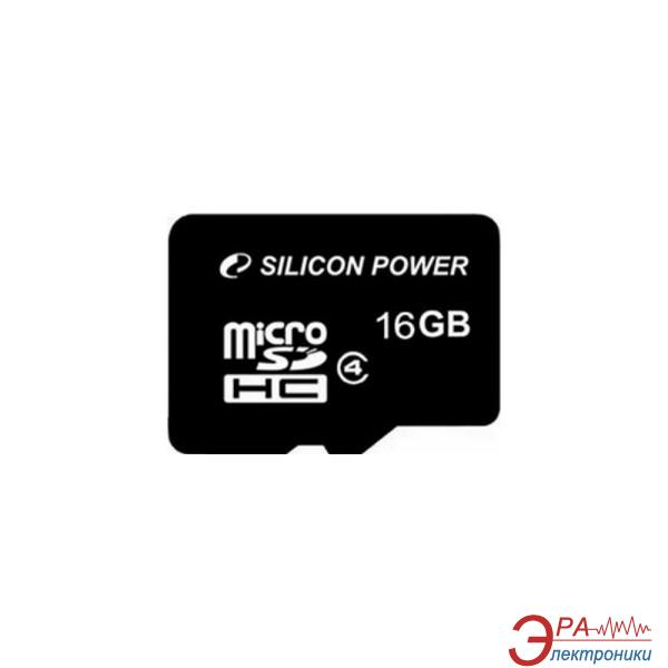 Карта памяти Silicon Power 16Gb microSD Class 4 no adapter (SP016GBSTH004V10)