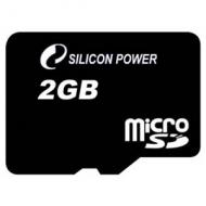 ����� ������ Silicon Power 2Gb microSD no adapter (SP002GBSDT000V10)