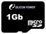 Карта памяти Silicon Power 1Gb microSD no adapter (SP001GBSDT000V10)
