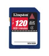 Карта памяти Kingston 8Gb SD Class 4 Video Card (SDV/8GB)