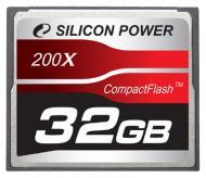 Карта памяти Silicon Power 32Gb Compact Flash 200x (SP032GBCFC200V10)