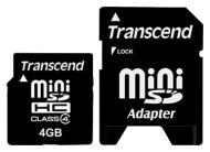 ����� ������ Transcend 4Gb miniSD Class 4 + SD ������� (TS4GSDMHC4)
