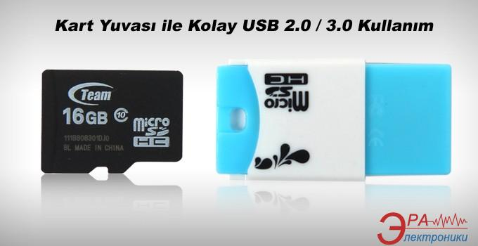 Карта памяти Team 16Gb microSD Class 10 + Reader TR11A1