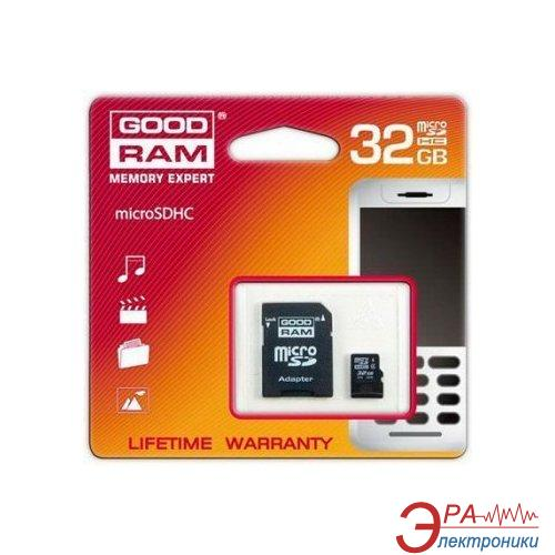 Карта памяти Goodram 32Gb microSD Class 10 +adapter
