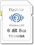 Карта памяти Toshiba 8Gb SD Class 6 FlashAir WiFi (SD-F08AIR(BL7)