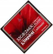 Карта памяти Kingston 32Gb Compact Flash 266x (CF/32GB-U2)
