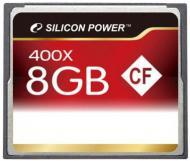Карта памяти Silicon Power 8Gb Compact Flash 400x (SP008GBCFC400V10)