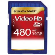 Карта памяти Silicon Power 32Gb SD Class 6 Full HD Video (SP032GBSDH006V30)