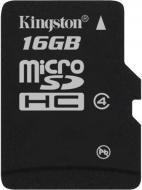 ����� ������ Kingston 16Gb microSD Class 4 no adapter (SDC4/16GBSP)
