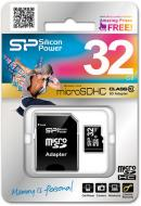 Карта памяти Silicon Power 32Gb microSD Class 10 + adapter (SP032GBSTH010V10-SP)