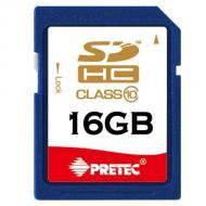 Карта памяти Pretec 16Gb SD Class 10 (SHSV16G)