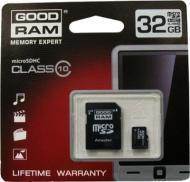 ����� ������ Goodram 32Gb microSD Class 10 + adapter RETAIL 10 (SDU32GHC10AGRR10)
