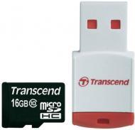 Карта памяти Transcend 16Gb microSD Class 10 (TS16GUSDHC10-P3)
