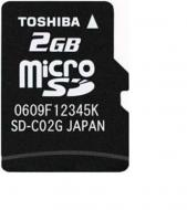 ����� ������ Toshiba 2Gb microSD Class 4 no adapter (SD-C02GJ(BL5)