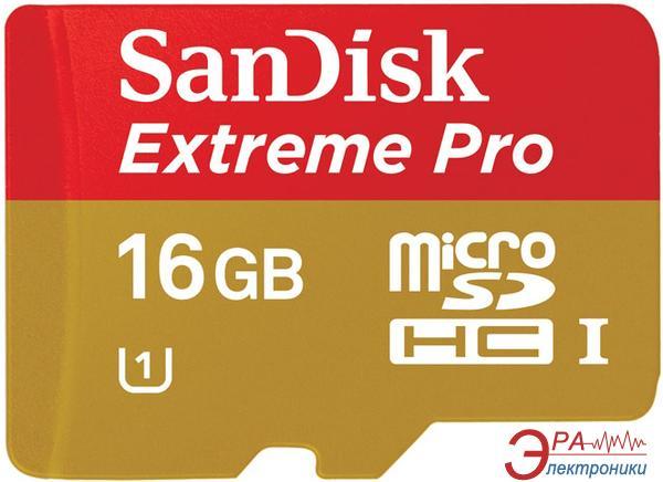 Карта памяти Sandisk 16Gb microSD Class 10 Extreme Pro UHS-I (SDSDQXP-016G-X46)