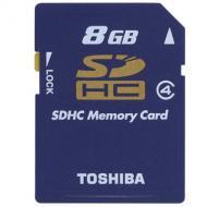 Карта памяти Toshiba 8Gb SD Class 4 SD-K08GJ (BL3/SD-K08GJ(BL5)
