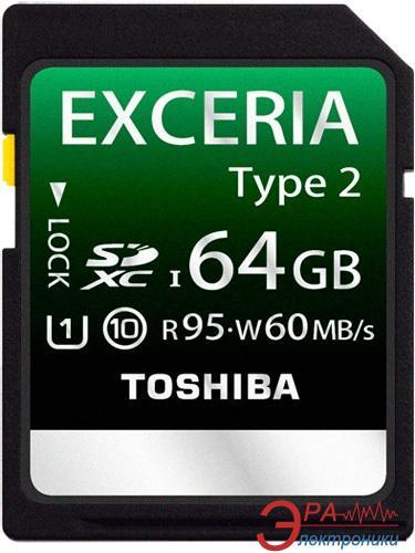 Карта памяти Toshiba 64Gb SD Class 10 EXCERIA TYPE 2 (BL7 (SD-X64T2(BL7)