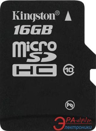 Карта памяти Kingston 16Gb microSD Class 10 без адаптера (SDC10/16GBSP)