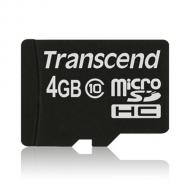 ����� ������ Transcend 4Gb microSD Class 10 ��� �������� (TS4GUSDC10)