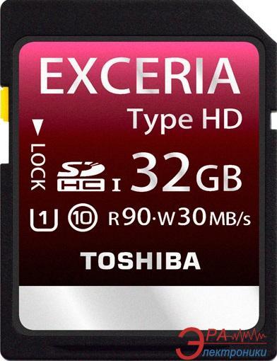 Карта памяти Toshiba 32Gb SD Class 10 (UHS1) Exceria (HD type) (SD-X32HD(BL7)