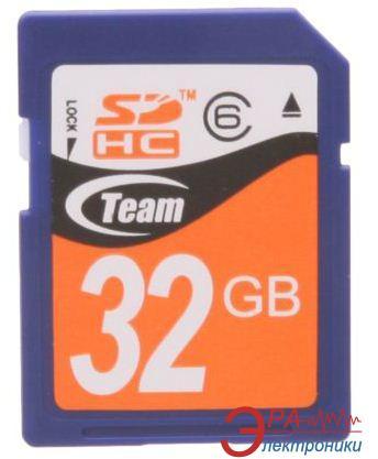 Карта памяти Team 32Gb SD Class 4 (CTBG11XXXC8)