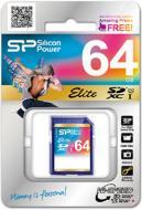 Карта памяти Silicon Power 64Gb SD Class 10 UHS-I Elite (SP064GBSDXAU1V10)