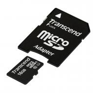 Карта памяти Transcend 16Gb microSD Class 10 + SD адаптер Ultra High Speed 1 (TS16GUSDU1)