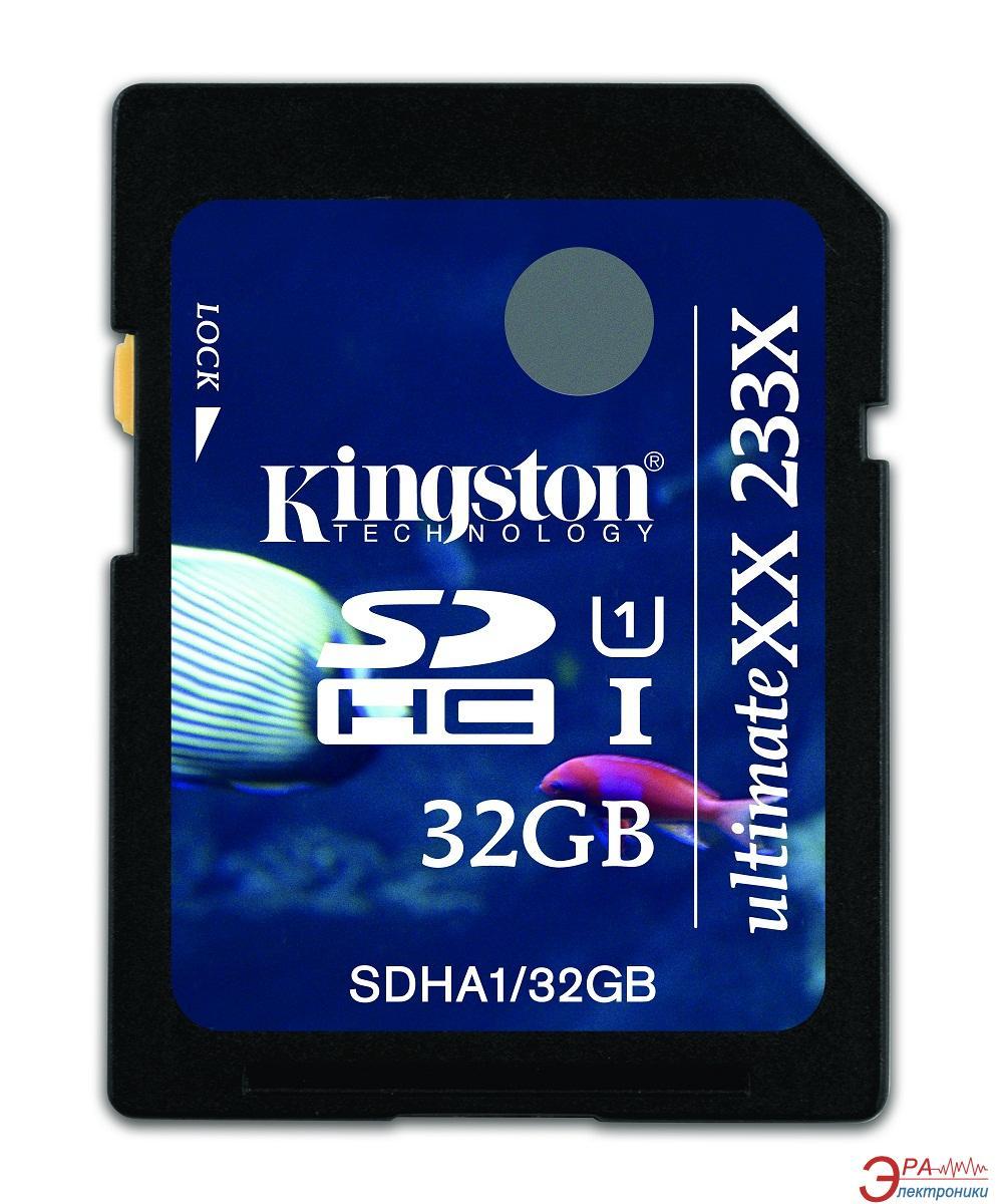 Карта памяти Kingston 32Gb SD Class 10 UltimateXX UHS-I (SDHA1/32GB)