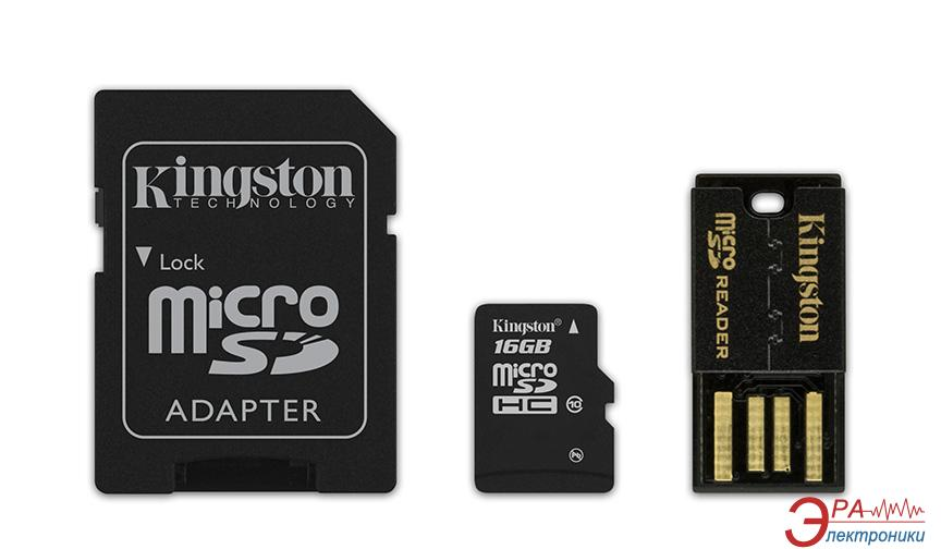 Карта памяти Kingston 16Gb microSD Class 10 Mobility Kit Gen2 (MBLY10G2/16GB)