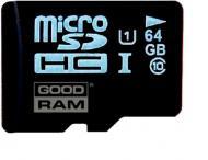 Карта памяти Goodram 64Gb microSD Class 10 UHS-I + adapter (SDU64GXCUHS1AGRR10)
