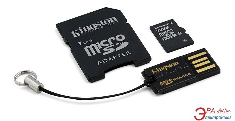 Карта памяти Kingston 32Gb microSD Class 10 Mobility Kit Gen2 (MBLY10G2/32GB)