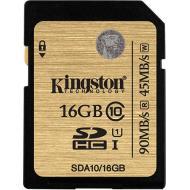 Карта памяти Kingston 16Gb SD Class 10 Ultimate UHS-I (SDA10/16GB)