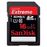 Карта памяти Sandisk 16Gb SD Class 10 HD Video eXtreme UHS-I (SDSDXS-016G-X46)