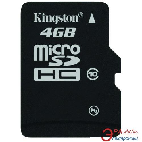 Карта памяти Kingston 4Gb microSD Class 10 (без адаптера) (SDC10/4GBSP)