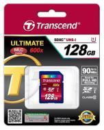 Карта памяти Transcend 128Gb SD Class 10 Ultimate UHS-1 (TS128GSDXC10U1)