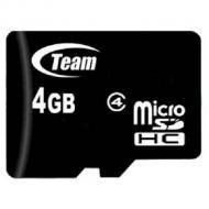 Карта памяти Team 4Gb microSD Class 4 (TUSDH4GCL402)