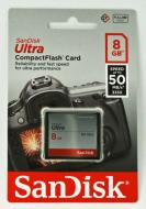 Карта памяти Sandisk 8Gb Compact Flash 333x Ultra (SDCFHS-008G-G46)