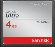 Карта памяти Sandisk 4Gb Compact Flash 333x Ultra (SDCFHS-004G-G46)