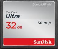 Карта памяти Sandisk 32Gb Compact Flash 333x Ultra (SDCFHS-032G-G46)