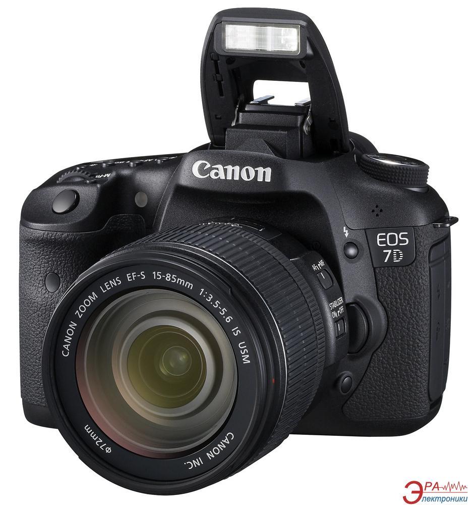 Зеркальная фотокамера Canon EOS 7D + объектив EF-S 15-85mm IS USM (3814B065) Black