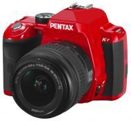 Зеркальная фотокамера Pentax K-r + DA L 18-55mm Red