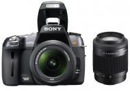 Зеркальная фотокамера Sony Alpha A550 + объективы 18-55 + 55-200 KIT (DSLR-A550) Black