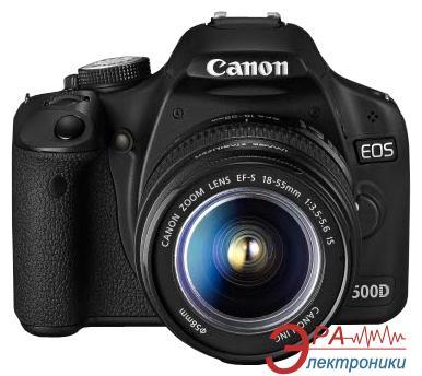 Зеркальная фотокамера Canon EOS 500D + объектив 18-55mm DC + 75-300mm (3820B164) Black
